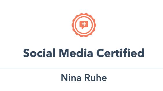 Hubspot Academy Social Media Certification